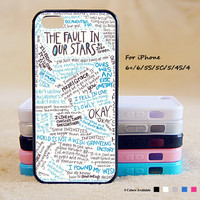 The Fault in Our Stars Phone Case For iPhone 6 Plus For iPhone 6 For iPhone 5/5S For iPhone 4/4S For iPhone 5C iPhone X 8 8 Plus