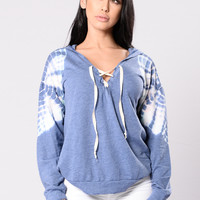Shoulder To Cry On Sweater - Blue