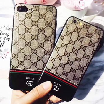 GUCCI New  fashion more letter iphone protective cover phone case