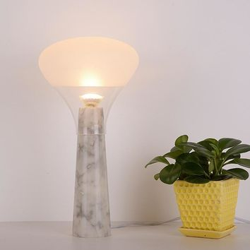 Modern Glass Marble Table Lamp | Bedside Lamp