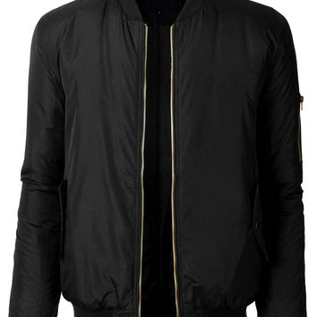 LE3NO Mens Classic Fully Lined Zip Up Flight Bomber Jacket with Pockets (CLEARANCE)