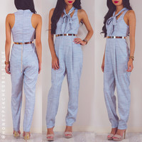 Keep Moving Jumpsuit - Grey