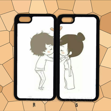 Cute couple phone case,boy girl kissing,iPhone 6 case,iPhone 6 Plus Case,iphone 6 cover,iPhone 5/5S/5C/4/4S,Samsung/HTC/Sony/LG Case