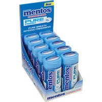 Mentos Pure Fresh Sugar Free Chewing Gum Packs - Fresh Mint: 10-Piece