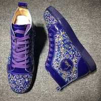 Cl Christian Louboutin Rythinestone Style #1923 Sneakers Fashion Shoes