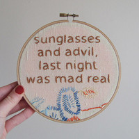 Embroidered Rap Lyrics No Church In The Wild by nodiggitynodoubt