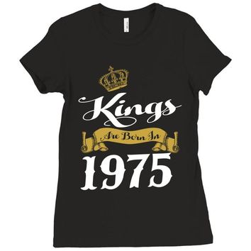 kings are born in 1975 Ladies Fitted T-Shirt
