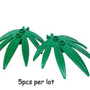 Part 10884 Plant Leaves 6x5 Swordleaf with Clip Garden Plant Zoo MOC accessory building block brick assemble particles brickset