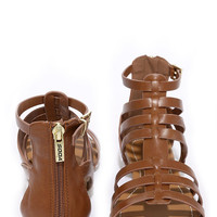 Sand a Chance Tan Gladiator Sandals