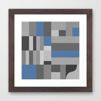 White Rock Blue Framed Art Print by Project M