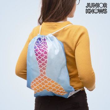 Junior Knows Mermaid Drawstring Bag