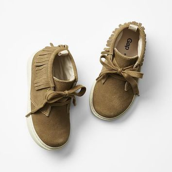 Gap Baby Moccasin Fringe Sneakers