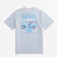 Surf Ride Graphic Pocket T-Shirt