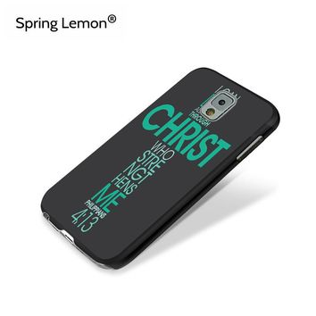 Jesus Christ Christian Cross Printed Hard PC Mobile Phone Case For Samsung Galaxy Note 3 4 5