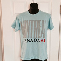 Vintage 1980s Montreal Canada blue t-shirt