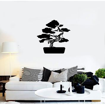 Vinyl Decal Wall Sticker Decor Bonsai Asia Tree Nature Japan Unique Gift (g040)