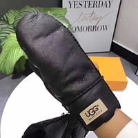 UGG Women Leather Fashion Wool Winter Gloves