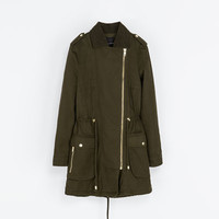 COTTON CROSSOVER PARKA