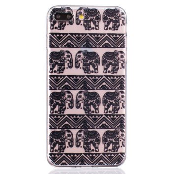 Black Lace Elephant iPhone 6 6s Plus & iPhone 7 7Plus & iPhone se 5s + Gift Box-82