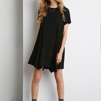 Pointed Hem Trapeze Dress