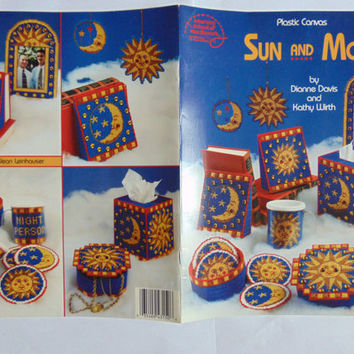 Sun and Moon, Home Decor & Accessories Plastic Canvas Pattern Booklet