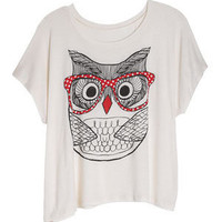 dELiAs > Owl with Glasses Tee > tops > view all tops