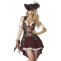 Eye Candy Womens Deluxe Swashbuckler Halloween Party Pirate Costume