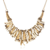 Simple  Silver Collar Necklace For Women Gothic Statement Necklace