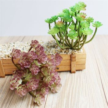 1pcs High Quality Artificial Plants Succulents Lotus Grass Leaves Landscape Simulation Plant Home Office Fake Flower Decoration