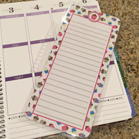 FREE SHIPPING Cupcake Laminated Dashboard Insert for Erin Condren Life Planner/Plum Paper Planner - clips right into coils!