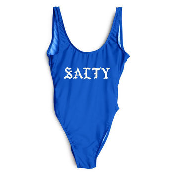 SALTY High Leg One Piece Bathing Suit