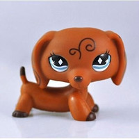 Great gifts store littlest pet shop Pet Dachshund Dog Collection Child Girl Boy Figure Toy Loose Cute