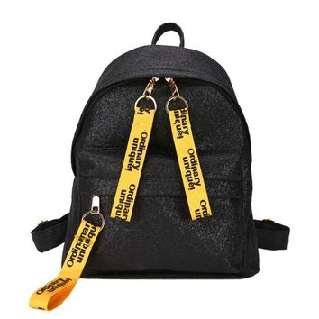 School Backpack trendy Shining Bling Women Backpack For Teenage Girls School Bags mochila Glitter Small Bag Female Travel Rucksack escolar 2018 XA505H AT_54_4
