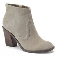 ShoeMint Mia Women's Suede High Heel Ankle Boots