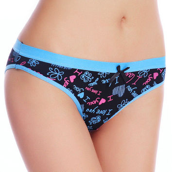 89008 Everyday Underwear Women 2015 New Printed Cotton Women's Briefs