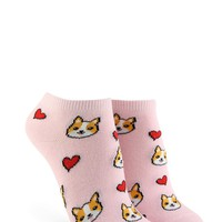 Dog & Heart Ankle Socks