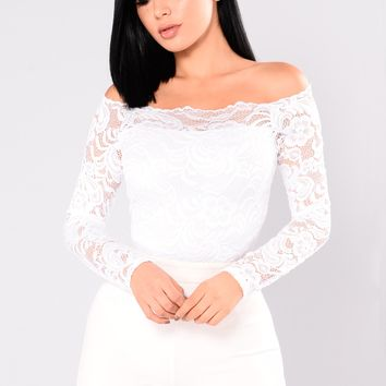 Marianne Lace Top - White
