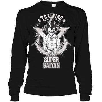 Super Saiyan -  Vegeta training - Unisex Long Sleeve T Shirt - SSID2016
