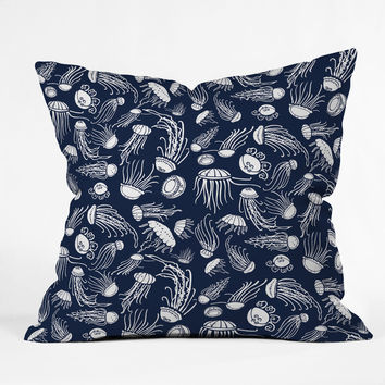 Jennifer Denty Jellyfish Throw Pillow