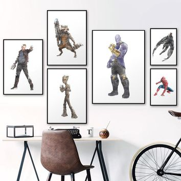 Wall Art Print Canvas Painting Marvel Superhero Nordic Posters And Prints Canvas Pictures For Living Room Kids Room Decoration