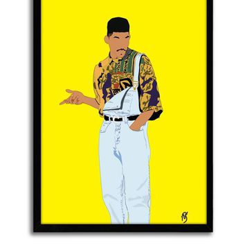 Fresh Prince Poster - Classic TV Poster - 90's Poster, hip hop poster