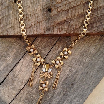 Crystal Pins Necklace