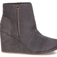 Dark Grey Suede Women's Desert Wedge Highs US