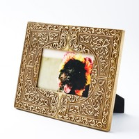 Floral Metal Gold Photo Frame 4x6 - Home Decor - Earthbound Trading Co.