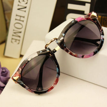 Womens Vintage Round Retro Sunglasses