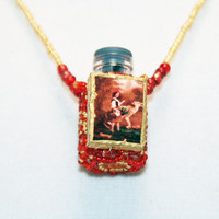 Red Riding Hood Beaded Bottle Necklace | Luulla