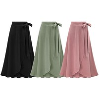 FLOWING ASYMMETRICAL SKIRT