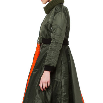 AMMO Aviator Flare 2 Piece Coat - Green/Orange