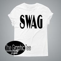 Swag women tshirt, swag shirt, swag shirts, tumblr shirts, trendy woman shirts, BLACK/WHITE tshirt