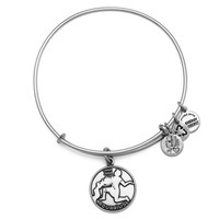 Alex and Ani Aquarius Charm Bangle Bracelet - Rafaelian Silver Finish